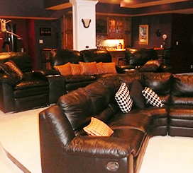 Custom Finished Basement, courtesy of Jeda Homes!