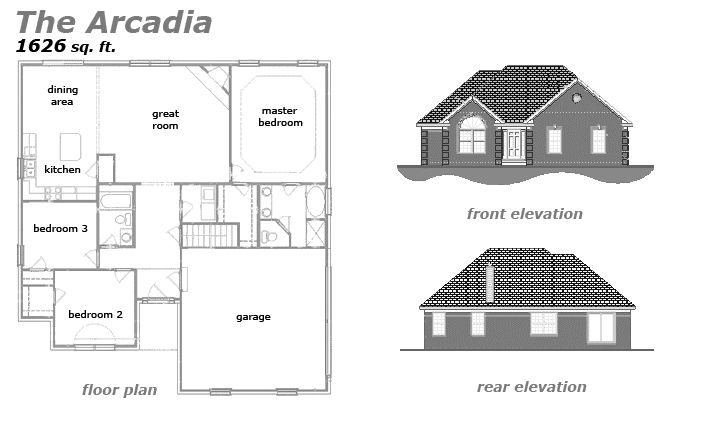 The Arcadia Floor Plan by Jeda Homes