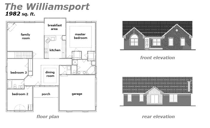 The Williamsport Floor Plan by Jeda Homes