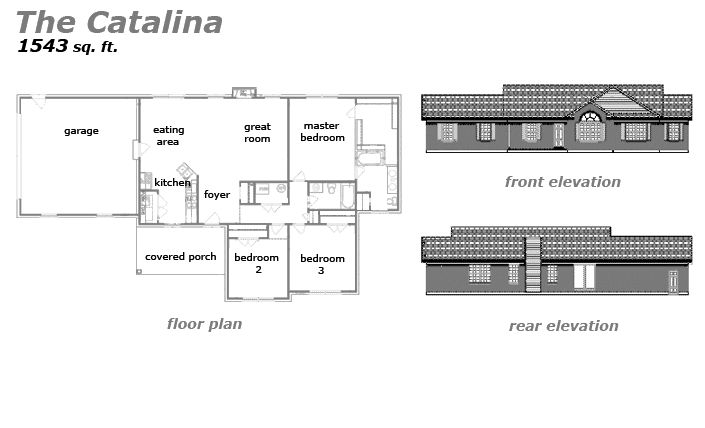 The Catalina Floor Plan by Jeda Homes