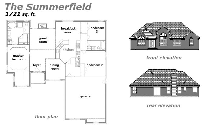 The Summerfield Floor Plan by Jeda Homes