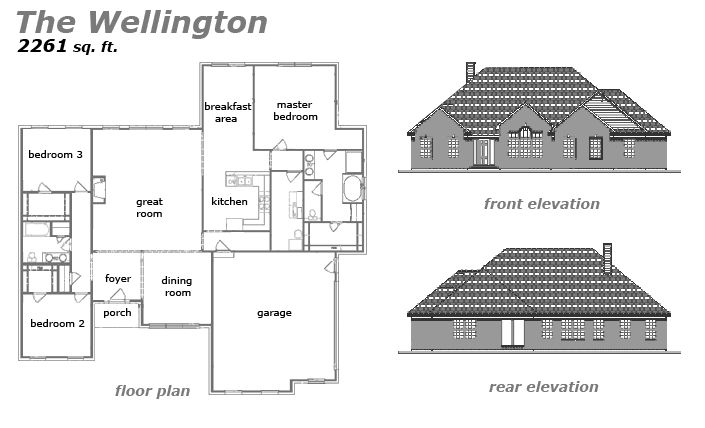 The Wellington Floor Plan by Jeda Homes