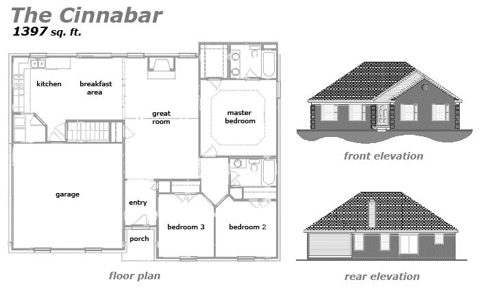 The Cinnabar Floor Plan by Jeda Homes