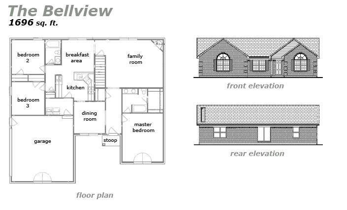 The Bellview Floor Plan by Jeda Homes