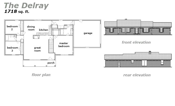The Delray Floor Plan by Jeda Homes