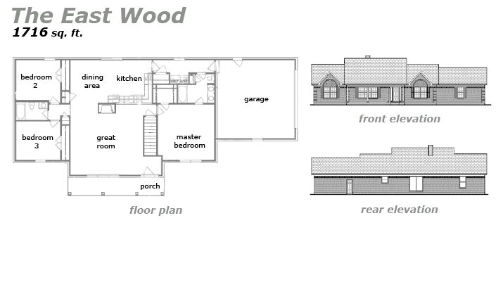 The East Wood Floor Plan by Jeda Homes