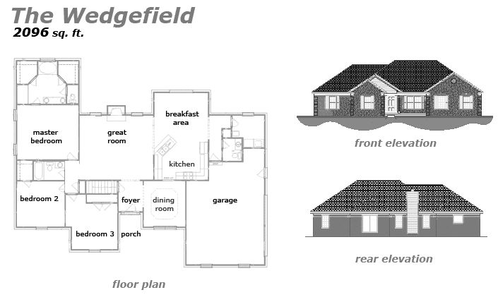 The Wedgefield Floor Plan by Jeda Homes