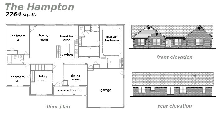 The Hampton Floor Plan by Jeda Homes
