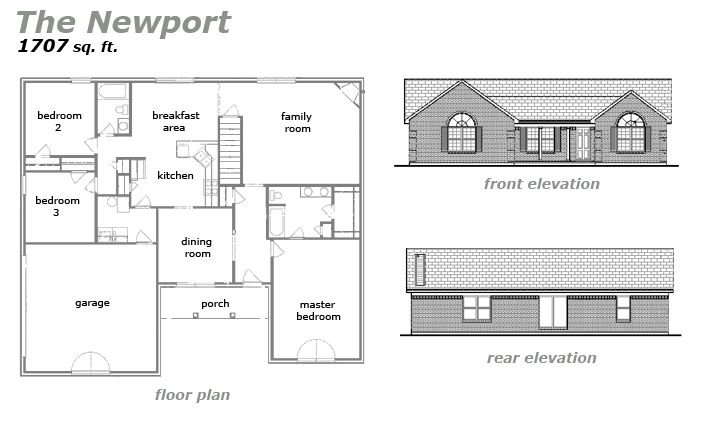 The Newport Floor Plan by Jeda Homes