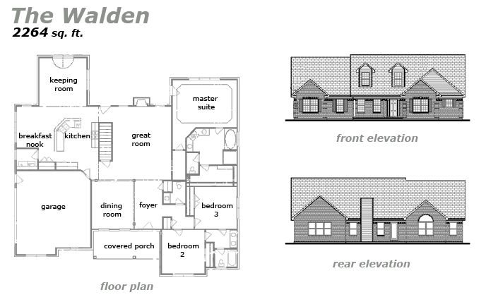 The Walden Floor Plan by Jeda Homes