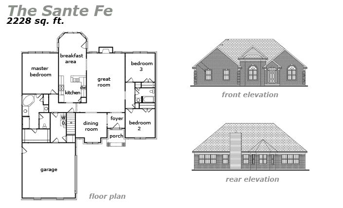 The Sante Fe Floor Plan by Jeda Homes