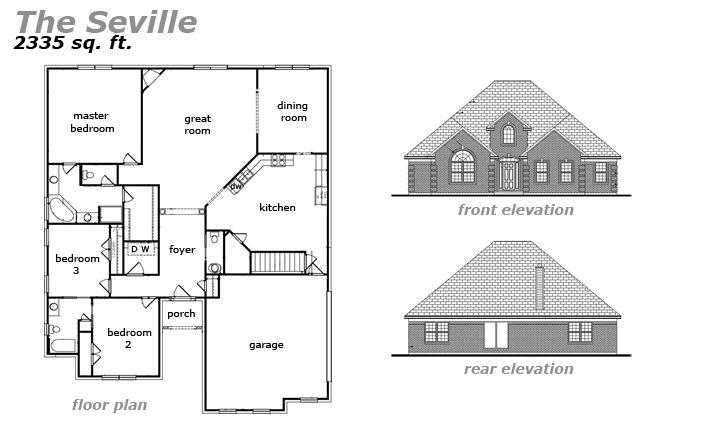 The Seville Floor Plan by Jeda Homes