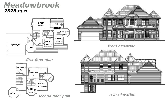 The Meadowbrook Floor Plan by Jeda Homes