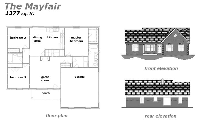 The Mayfair Floor Plan by Jeda Homes
