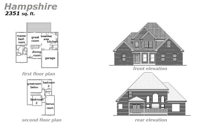 The Hampshire Floor Plan by Jeda Homes