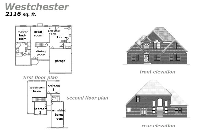The Westchester Floor Plan by Jeda Homes