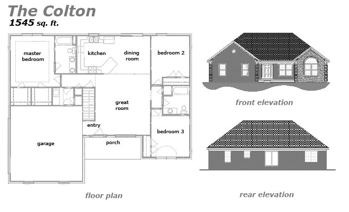 The Colton Floor Plan by Jeda Homes