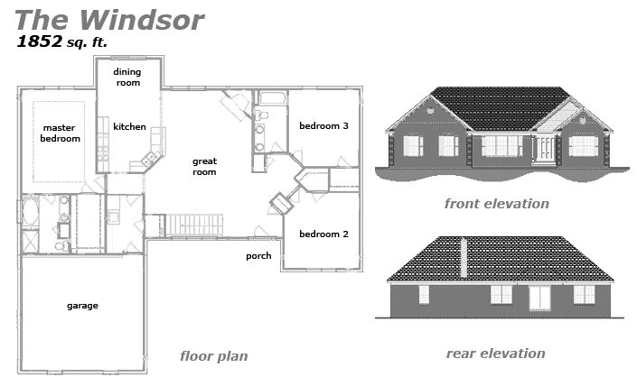 The Windsor Floor Plan by Jeda Homes