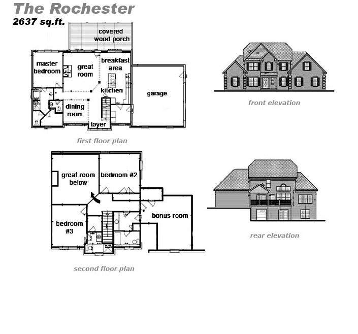 The Rochester Floor Plan by Jeda Homes