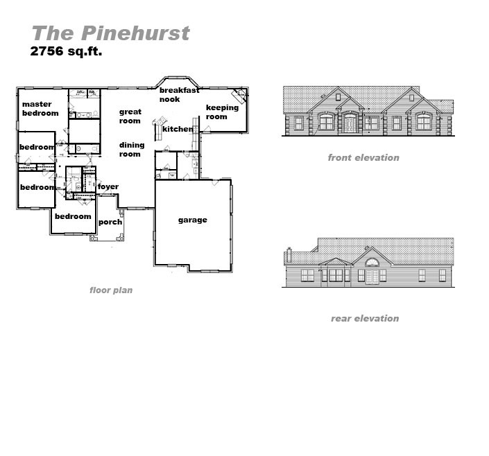 The Pinehurst Floorplan by Jeda Homes